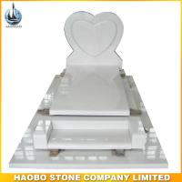 Haobo White Marble France Tombstone For Sale