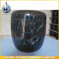 feather fossil granite funeral urn