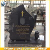 carved lily grey granite tombstones