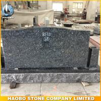 simple blue pearl granite headstone