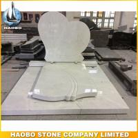 How wonderful and cheap white marble heart shape monument