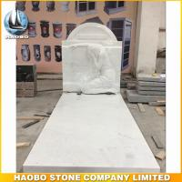 Cheap white marble weeping angel monument