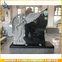 Shanxi Black granite weeping angel monument