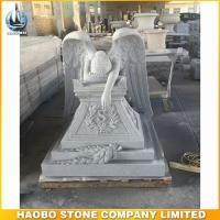 Newly style grey granite big size weeping angel monument for Haobo Stone factory